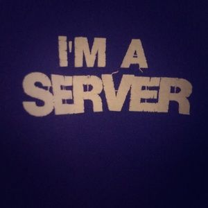 I'm a sever hoodie with funny back vivid purple